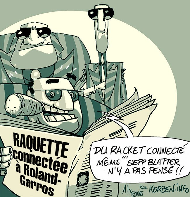 Raquette connectee