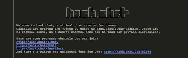 Hack.chat – Un script de chat minimaliste