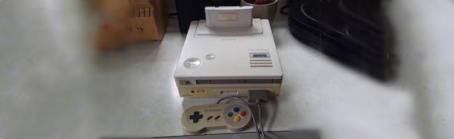 Le prototype de la Nintendo PlayStation en vidéo