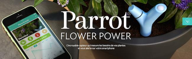 Test du Flower Power de Parrot