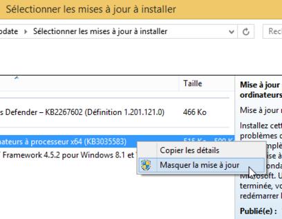 Comment désactiver les mouchards de Windows 7, 8 et 10 Masquer
