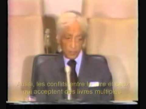 Discours de Jiddu Krishnamurti sur l'Humanité et la paix dans le monde