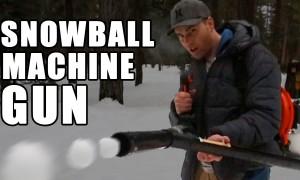 La mitraillette à boules de neige
