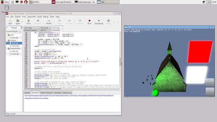 AppGameKit for Pi IDE 2