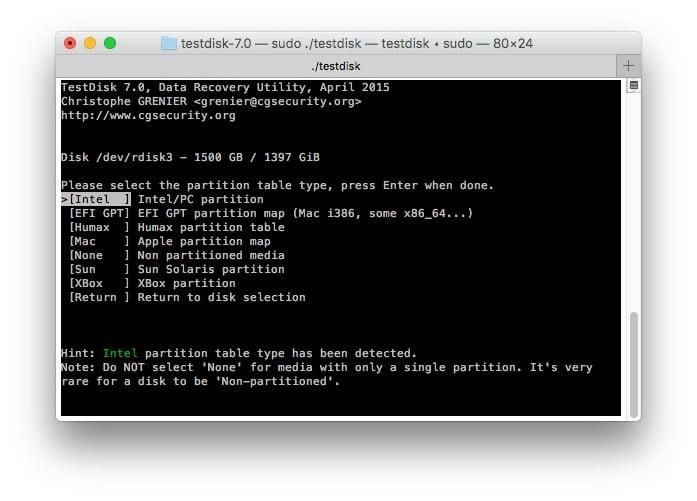R aliser l image d un disque dur avec testdisk - Reparer table de partition disque dur ...