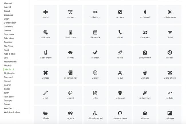 IcoFont – 2100 icônes gratuites pour vos projets web