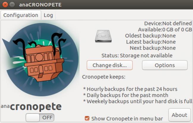 Cronopete – Un clone de Time Machine pour Linux