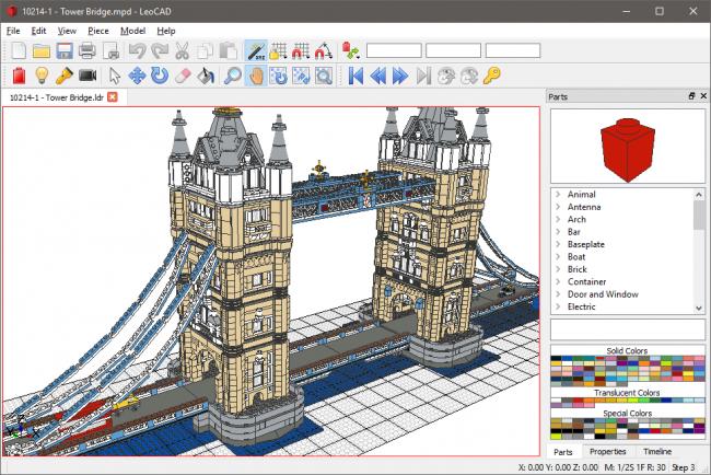 LeoCAD – Un outil multi-OS pour créer ses modèles LEGO en 3D