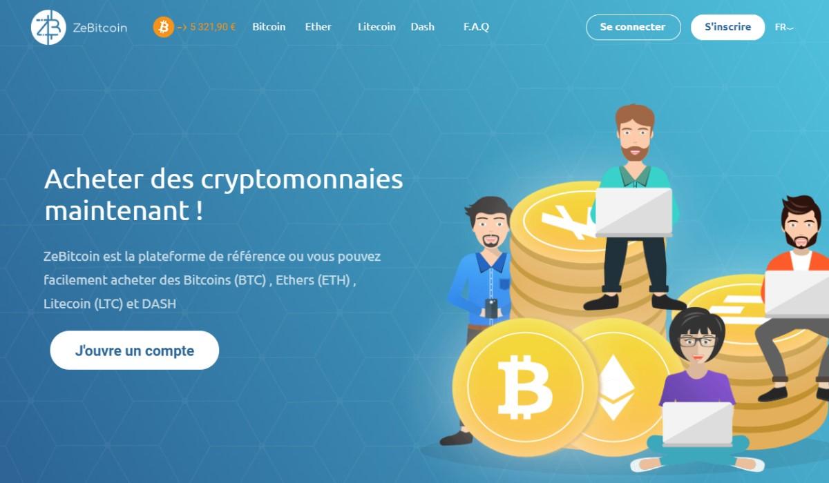 Acheter des cryptos avec ZeBitcoin