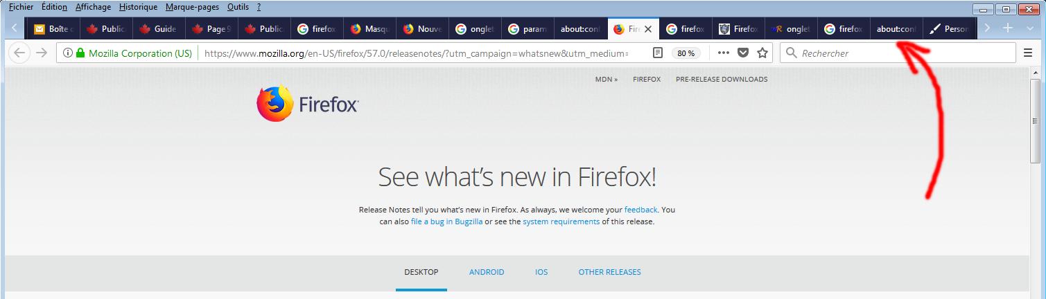 Comment augmenter la taille des onglets Firefox ?