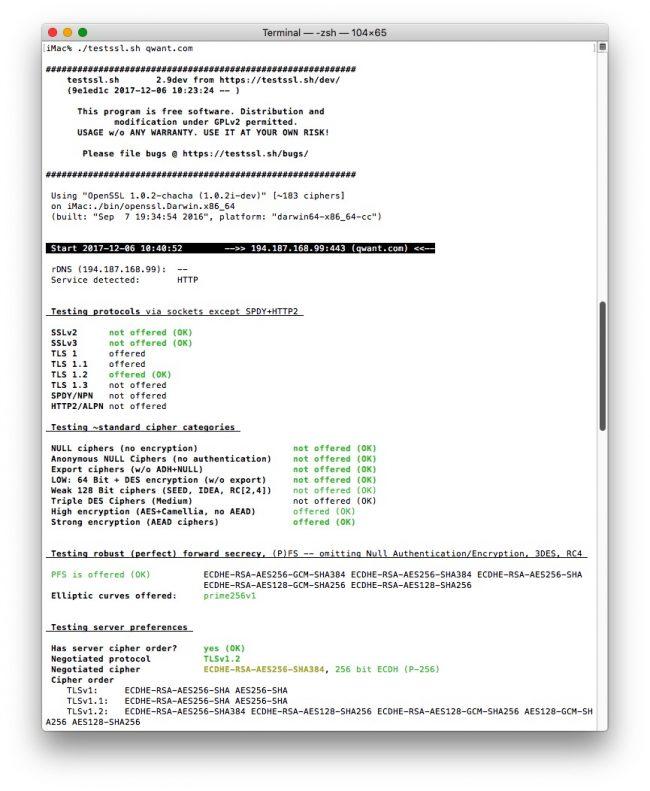 TestSSL.sh – Un script en ligne de commande pour tester le chiffrement de vos sites web