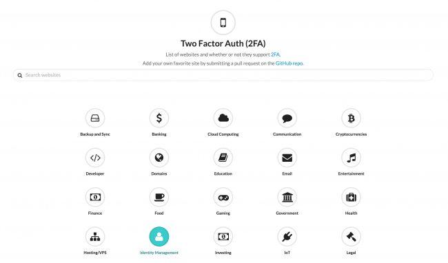 Quels sont les sites qui proposent de la double authentification ?