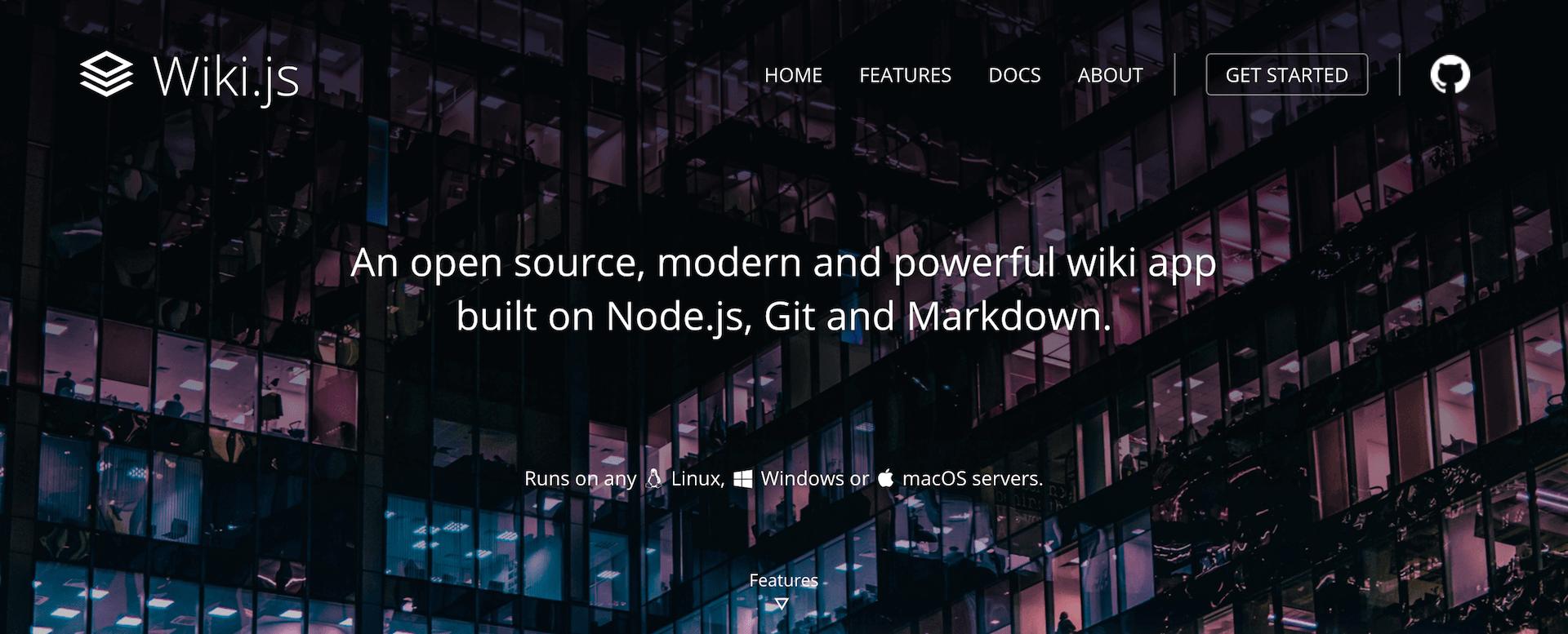 Wiki.js – Un moteur de Wiki moderne qui supporte le markdown