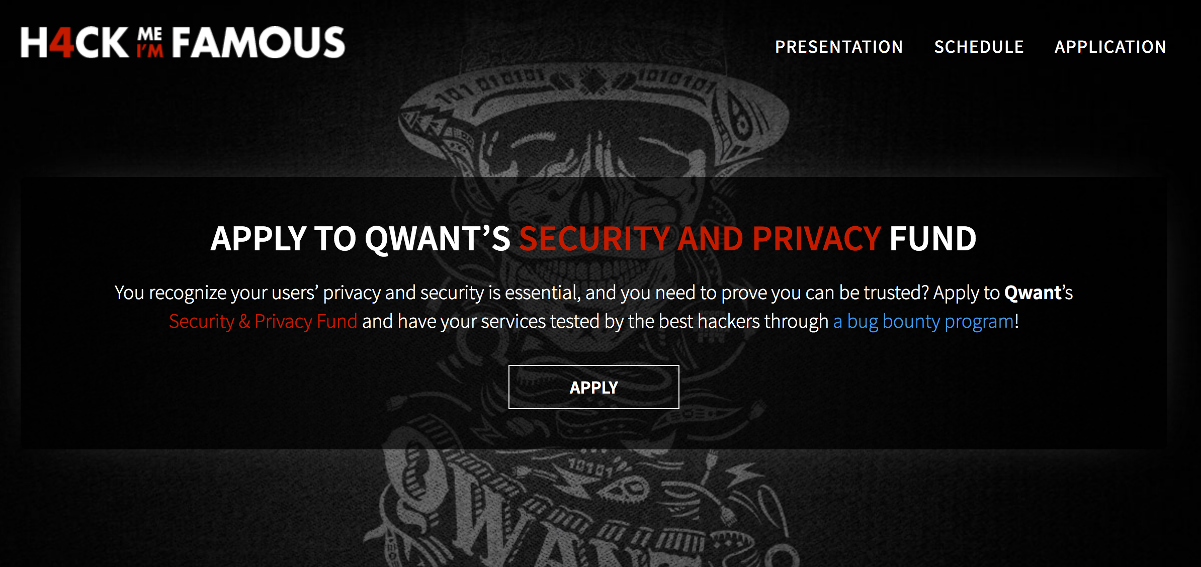 Qwant aide les entreprises qui partagent ses valeurs, à mieux se sécuriser #HackMeImFamous