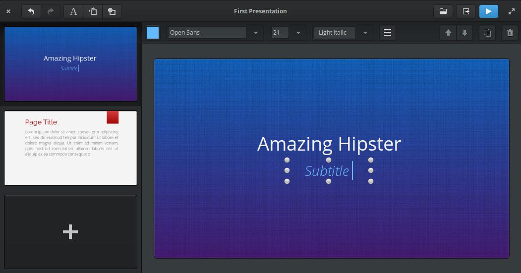 Spice up – Pour faire vos présentations à la Powerpoint, sous Linux