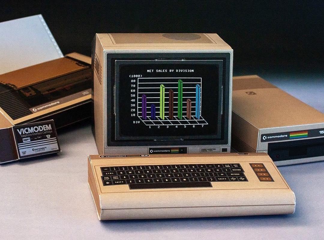 Retro Computer Papercraft