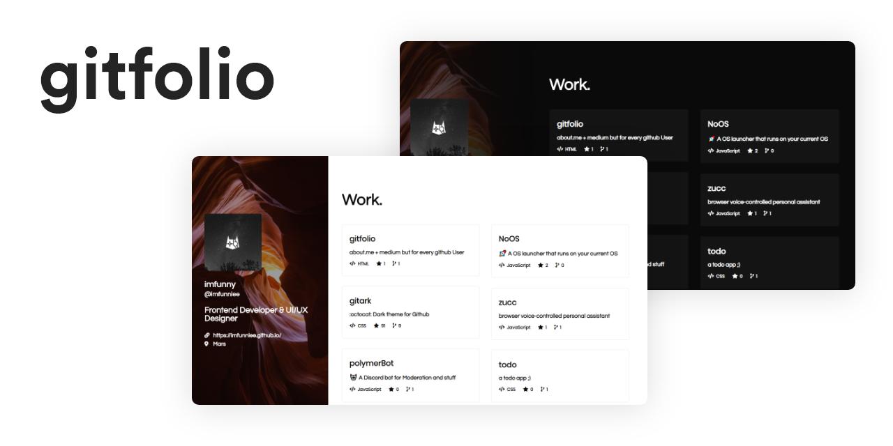 GitFolio – Le portfolio et le blog des développeurs paresseux