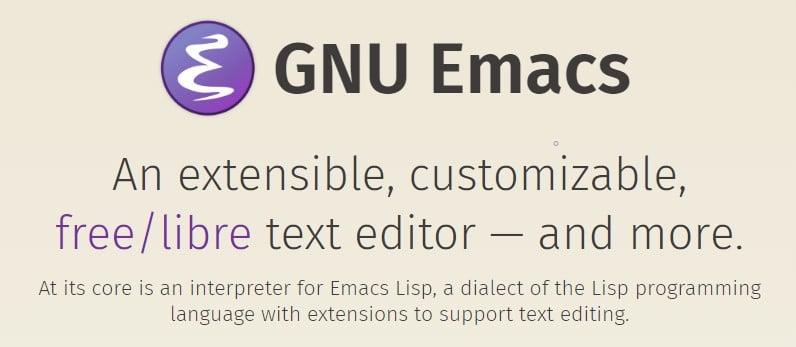 Editeur GNU Emacs