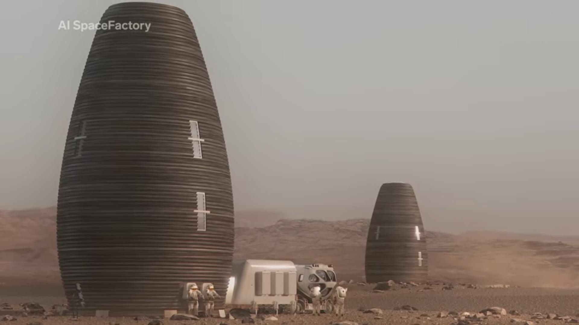 Le premier habitat pour MARS imprimé en 3D ressemblera peut-être à cela