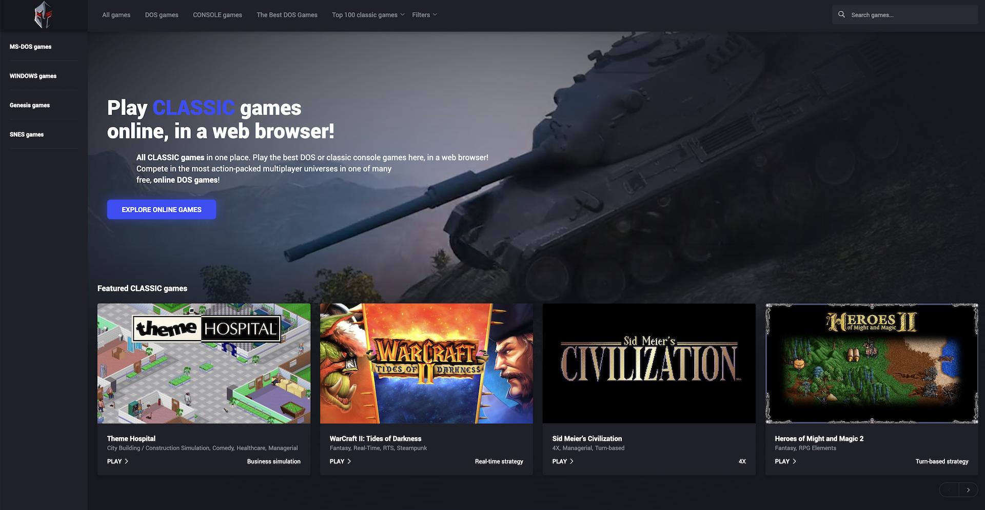 Jouez à de vieux jeux PC et console gratuitement depuis votre navigateur