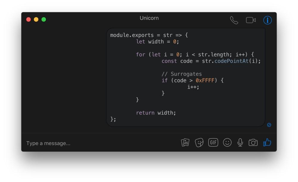 Caprine bloc de code