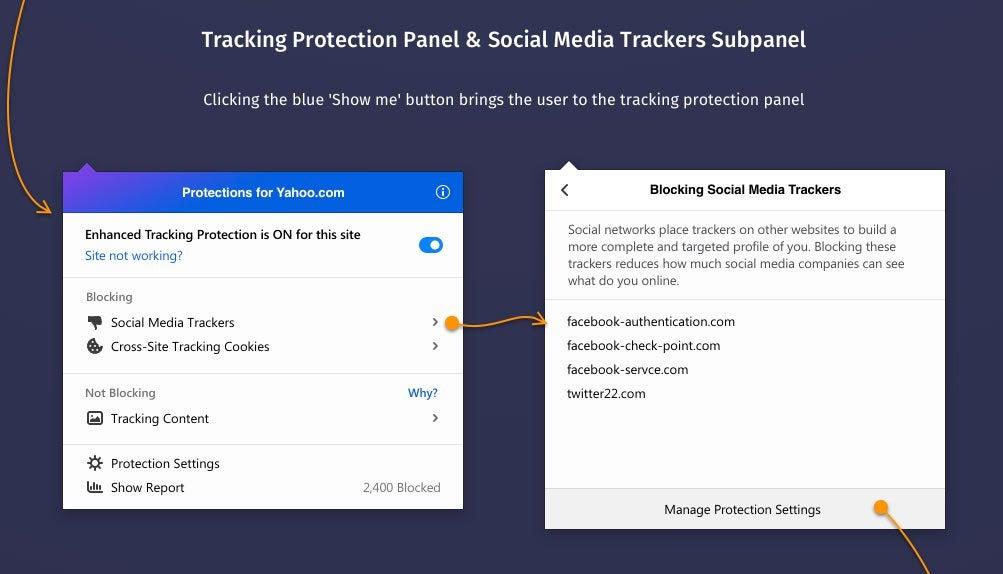 Firefox protection anti pistage des reseaux sociaux