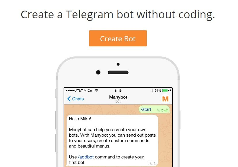 Manybot pour Telegram