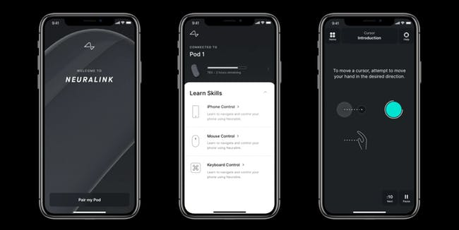 Application iPhone Neuralink