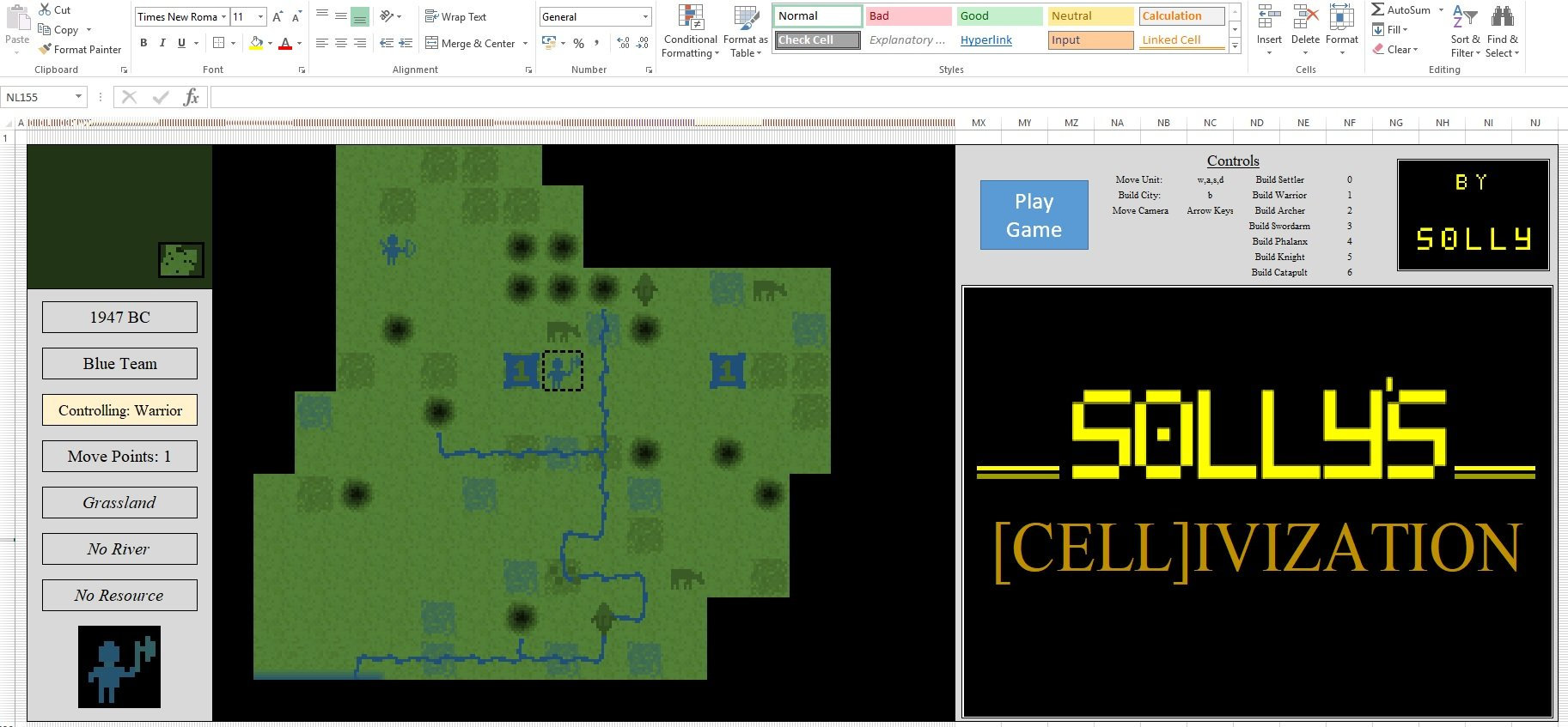 [CELL]ivization – Un clone de Civ 1 pour Excel