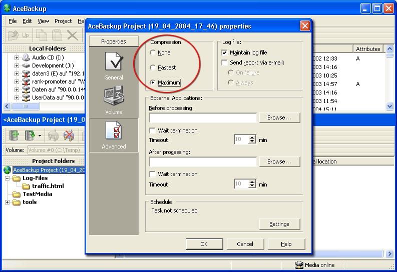Logiciel AceBackup pour Windows