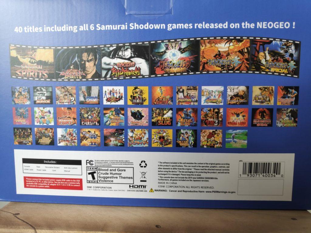 Liste des 40 jeux pour la Neo Geo Mini édition Samouraï Showdown