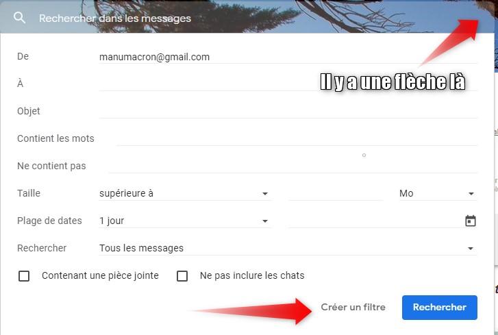 Créer des filtres avec Gmail