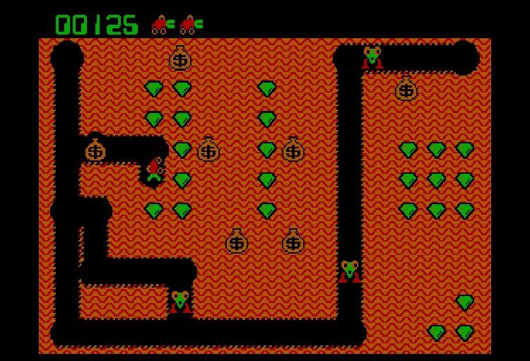 Jeu Digger pour MS-DOS