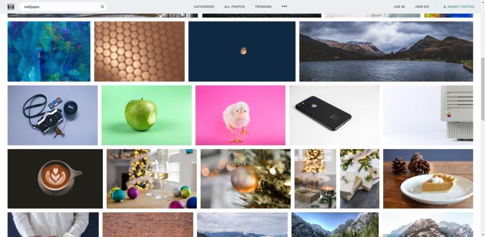 Stockcnap.io un site de fonds d'écran pour Windows 10