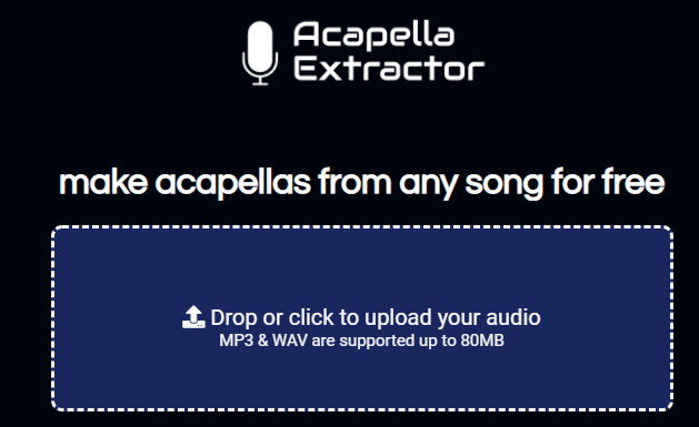 Acapella Extractor, outil gratuit pour récupérer l'a cappella de n'importe quelle chanson