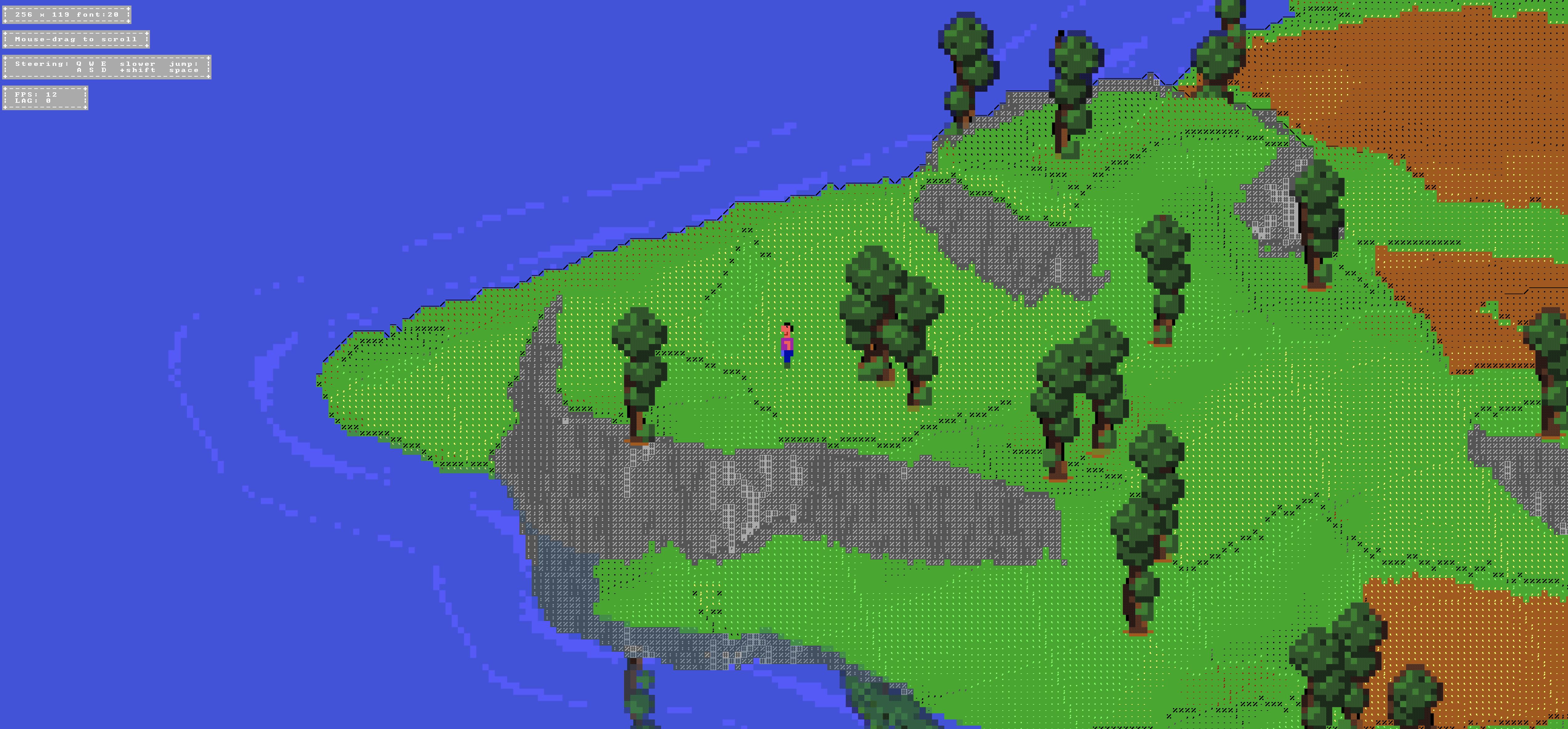 ASCIICKER – Un jeu utilisant un moteur 3D full ASCII