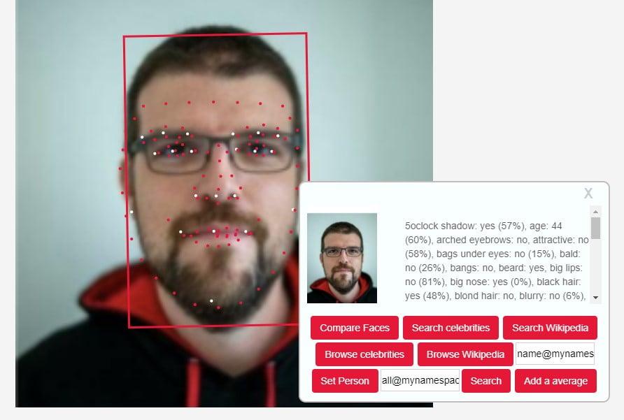 Moteur de recherche Betaface