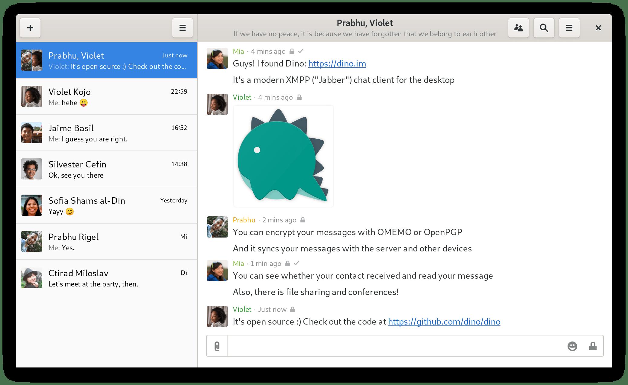 Dino – Un nouveau client Jabber/XMPP open source
