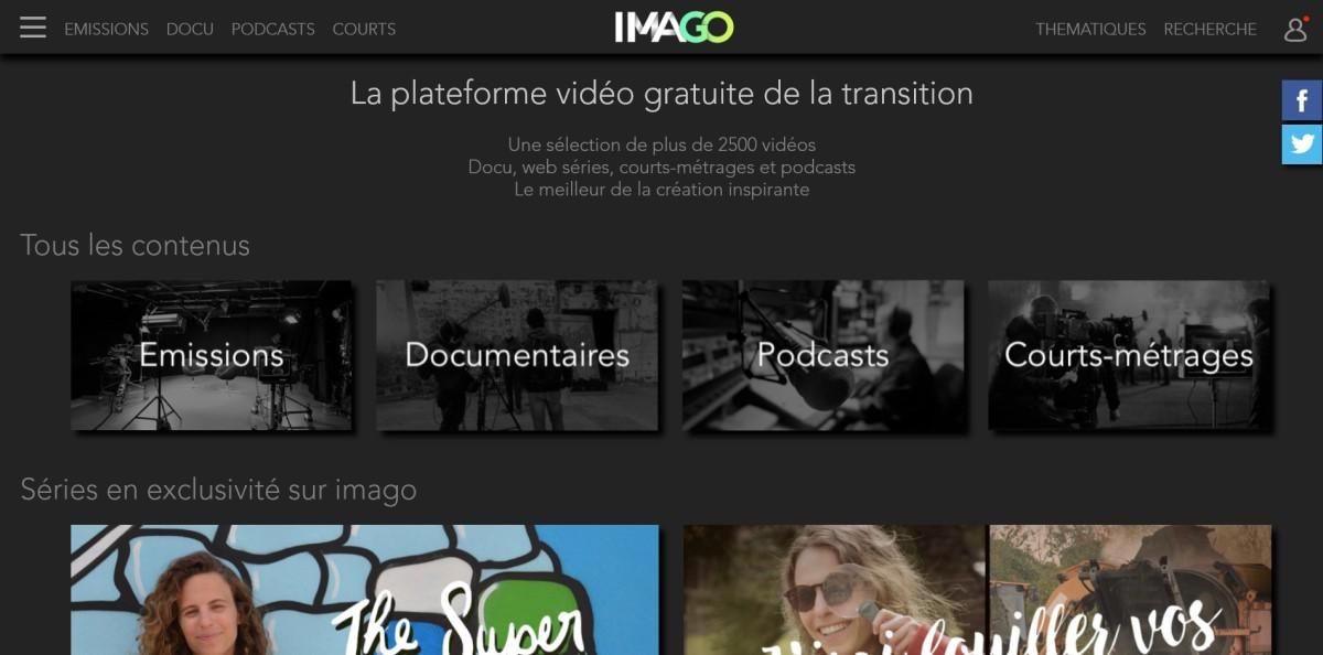 Imago - plateforme vidéo gratuite de la transition