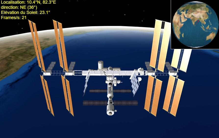 Position de l'ISS avec Heavens-above