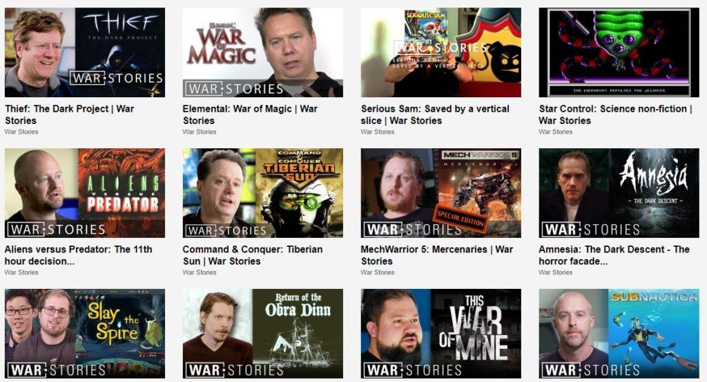 Vidéos rétrogaming - War Stories