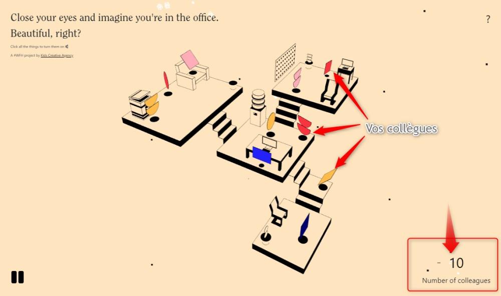 I miss the office, pour recréer l'ambiance sonore du travail