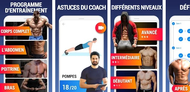 Leap Fitness application sportive pour android