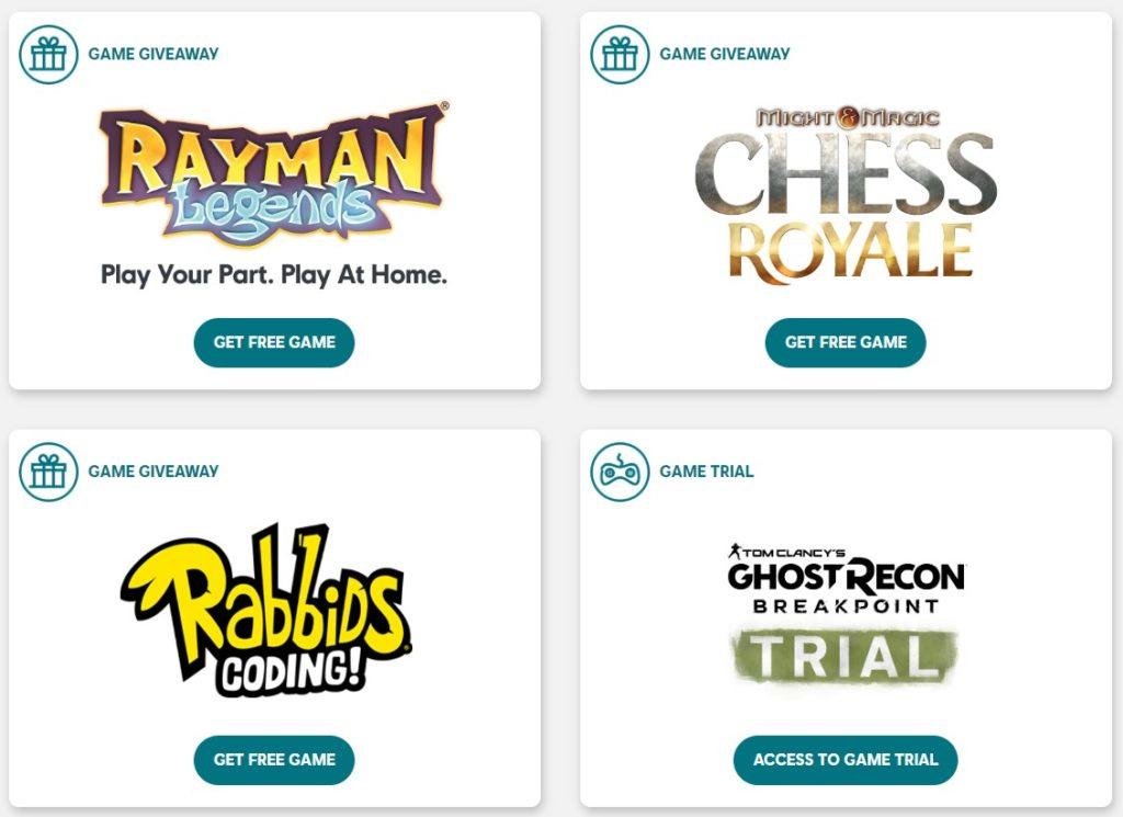 Ubisoft jeux gratuits