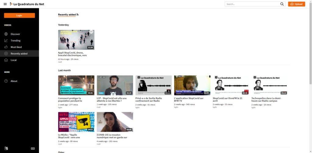 Espace vidéo de la Quadrature du Net