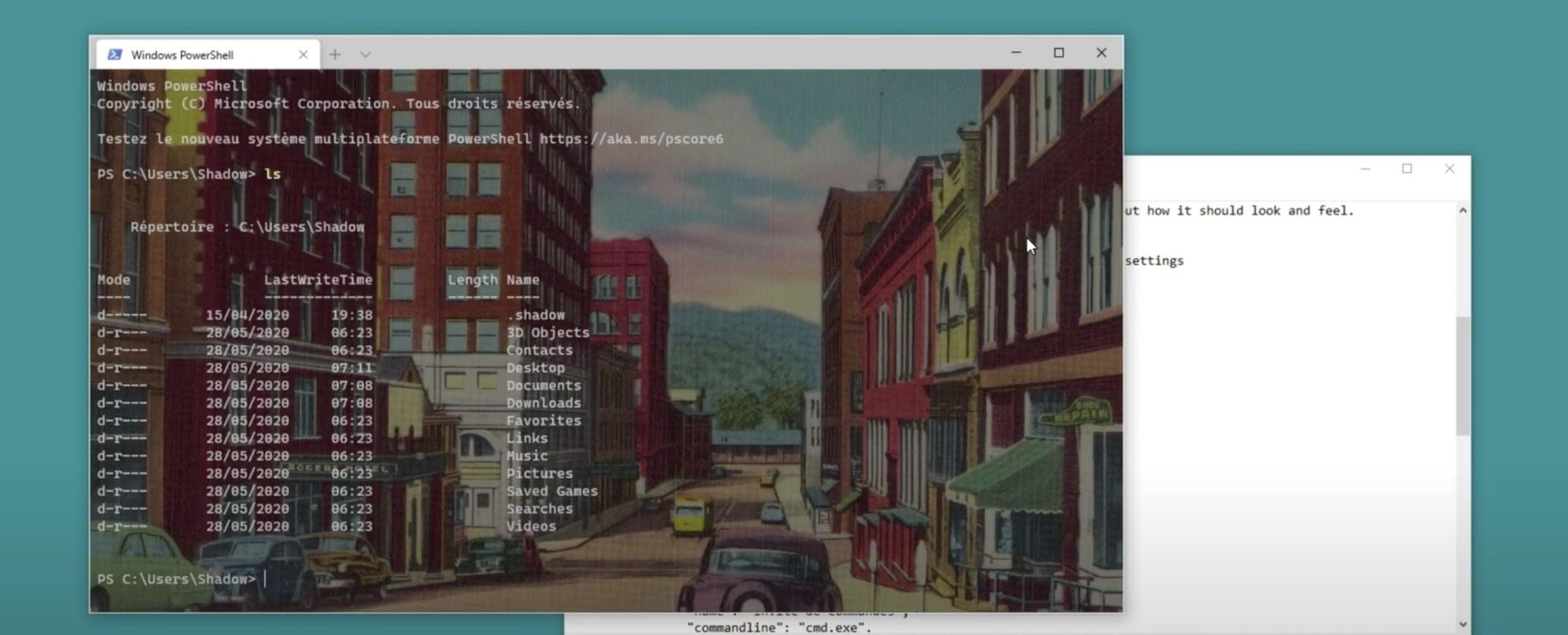 Une image en fond de Terminal Windows