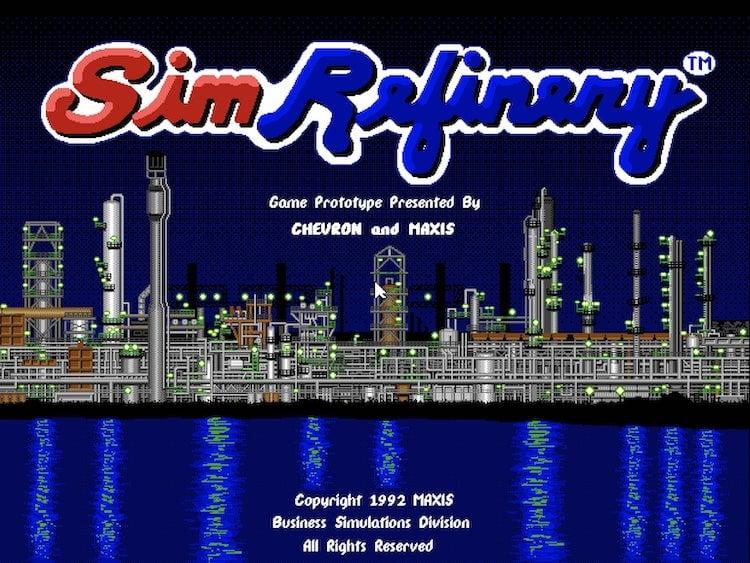 écran d'accueil sim refinery