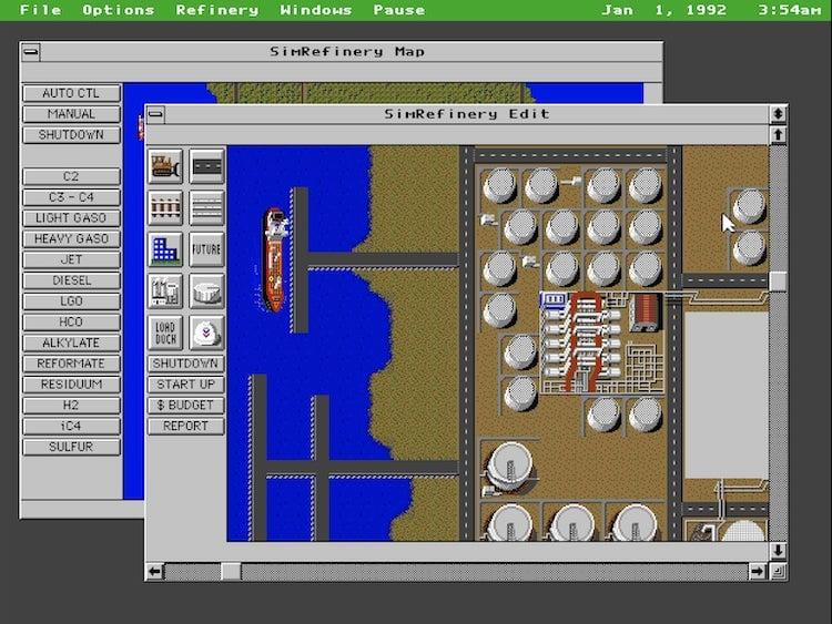 capture écran du jeu Sim Refinery