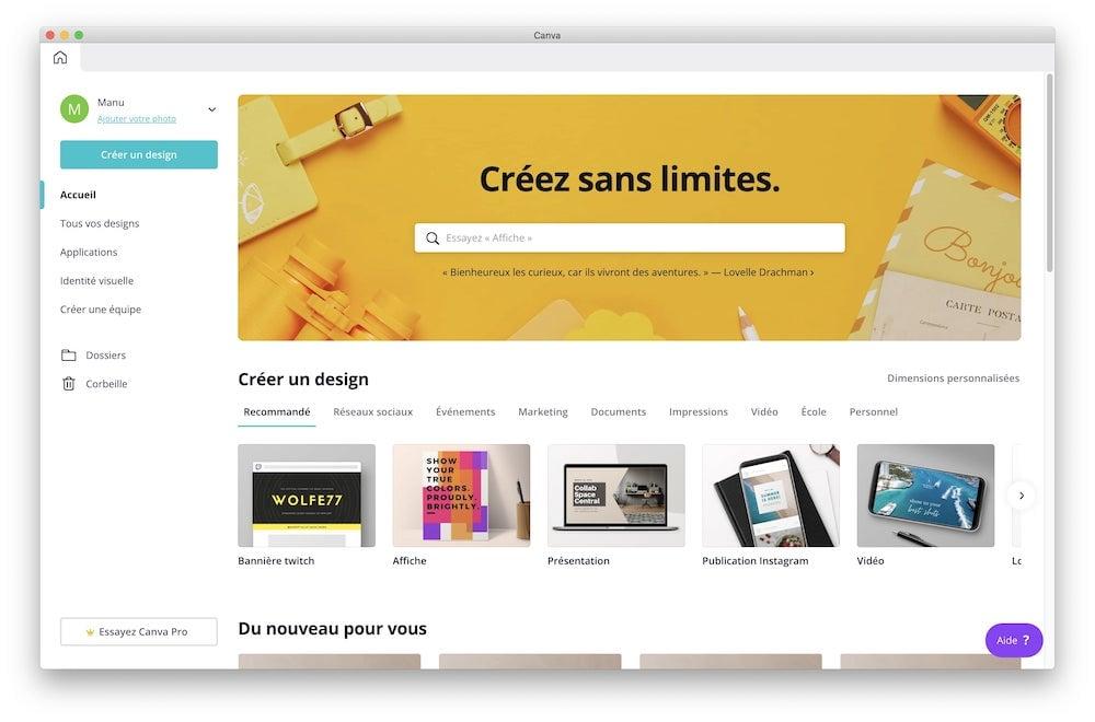 Canva app desktop macos