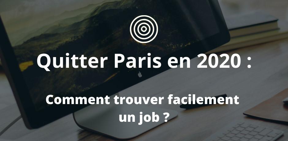 Quitter Paris en 2020 avec Laou